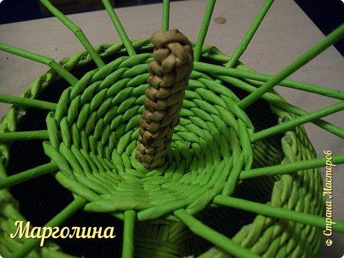 Мастер-класс Поделка изделие Плетение Как я плету крышечку для шкатулки Яблоко Небольшой МК Бумага Бумага газетная Трубочки бумажные фото 12