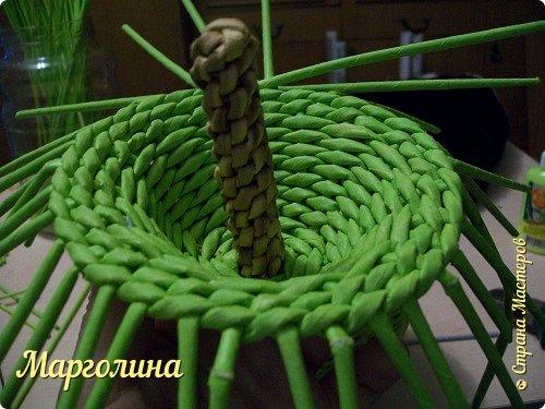 Мастер-класс Поделка изделие Плетение Как я плету крышечку для шкатулки Яблоко Небольшой МК Бумага Бумага газетная Трубочки бумажные фото 15