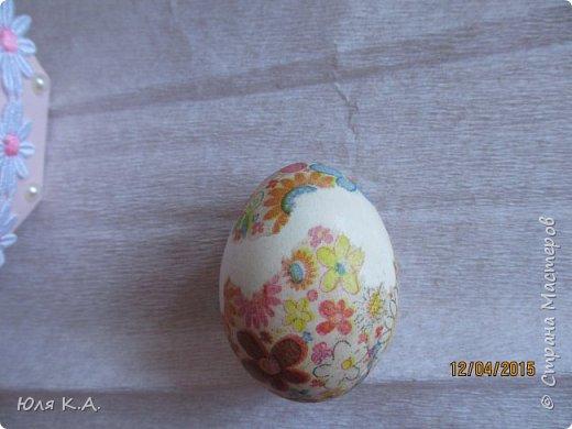 Вот так вот упаковывала яйца)) Спасибо за схемы корзиночек Ольге Качуровской (https://stranamasterov.ru/node/563953?c=favorite). Яйца красила карри и попробовала на 2-х декупаж белком. фото 9