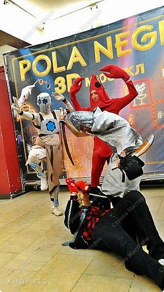 К аниме-фестивалю пошила костюм Рака. Мероприятие М.Ани.Фест 2015 - косплей фестиваль мультифандомного направления, а также Первый Аниме Фестиваль в Петербурге и первый фестиваль данного направления с конкурсной программой. Первый раз участвуем и первый раз шила костюм. фото 8