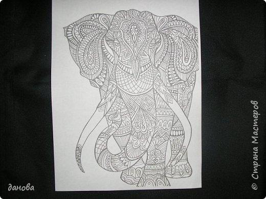 Картина панно рисунок Мастер-класс Аппликация Ключница СЛОН Картон Клей фото 2