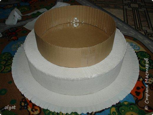 Мастер-класс Свит-дизайн День рождения Моделирование конструирование Торт из сладостей в детский сад Бумага гофрированная Картон гофрированный Клей Скотч фото 11