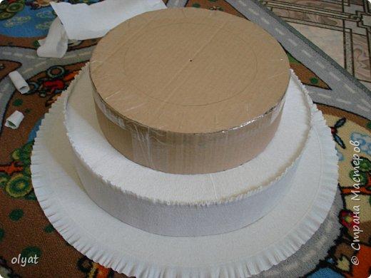 Мастер-класс Свит-дизайн День рождения Моделирование конструирование Торт из сладостей в детский сад Бумага гофрированная Картон гофрированный Клей Скотч фото 12
