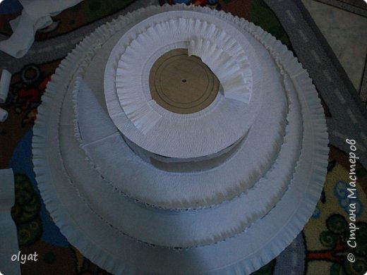 Мастер-класс Свит-дизайн День рождения Моделирование конструирование Торт из сладостей в детский сад Бумага гофрированная Картон гофрированный Клей Скотч фото 14