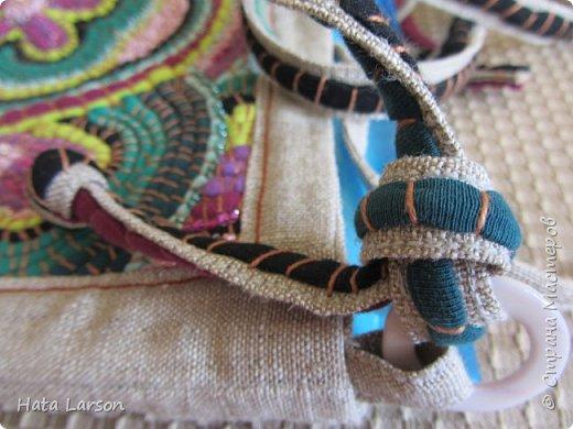 Мастер-класс Поделка изделие Вышивка Вышивание б\у футболками Бисер Канва Нитки Ткань фото 25