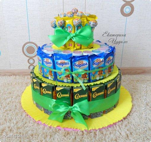 Торты в детский сад своими руками из конфет