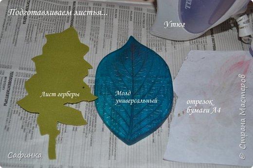 Приветик Всем, мои дорогие ...И снова с Вами, я Ольга Сыротюк...Решила создать продолжение Мк по гербере... Итак, по просьбам моих читательниц, сегодня мы с Вами будем делать стебель с листвой для герберы... В данном Мк вы узнаете... 1.Один из способов ..формирования  стебля.... 2.Научитесь Правильно обрабатывать листья.... 3.Тонировать... 4.Узнаете подробности сборки стебля с листвой герберы... 5.Выкройки шаблонов листа и подклейки прилагаются... И так, вдохновились? Есть желание по творить? Предлагаю присоединится.....  фото 12