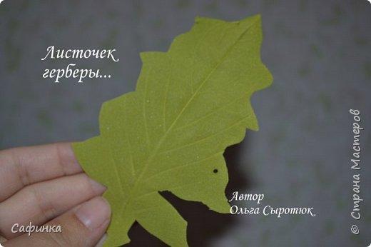Приветик Всем, мои дорогие ...И снова с Вами, я Ольга Сыротюк...Решила создать продолжение Мк по гербере... Итак, по просьбам моих читательниц, сегодня мы с Вами будем делать стебель с листвой для герберы... В данном Мк вы узнаете... 1.Один из способов ..формирования  стебля.... 2.Научитесь Правильно обрабатывать листья.... 3.Тонировать... 4.Узнаете подробности сборки стебля с листвой герберы... 5.Выкройки шаблонов листа и подклейки прилагаются... И так, вдохновились? Есть желание по творить? Предлагаю присоединится.....  фото 18