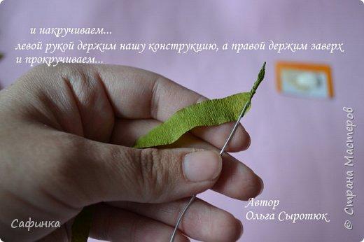 Приветик Всем, мои дорогие ...И снова с Вами, я Ольга Сыротюк...Решила создать продолжение Мк по гербере... Итак, по просьбам моих читательниц, сегодня мы с Вами будем делать стебель с листвой для герберы... В данном Мк вы узнаете... 1.Один из способов ..формирования  стебля.... 2.Научитесь Правильно обрабатывать листья.... 3.Тонировать... 4.Узнаете подробности сборки стебля с листвой герберы... 5.Выкройки шаблонов листа и подклейки прилагаются... И так, вдохновились? Есть желание по творить? Предлагаю присоединится.....  фото 25