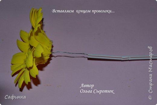 Приветик Всем, мои дорогие ...И снова с Вами, я Ольга Сыротюк...Решила создать продолжение Мк по гербере... Итак, по просьбам моих читательниц, сегодня мы с Вами будем делать стебель с листвой для герберы... В данном Мк вы узнаете... 1.Один из способов ..формирования  стебля.... 2.Научитесь Правильно обрабатывать листья.... 3.Тонировать... 4.Узнаете подробности сборки стебля с листвой герберы... 5.Выкройки шаблонов листа и подклейки прилагаются... И так, вдохновились? Есть желание по творить? Предлагаю присоединится.....  фото 4