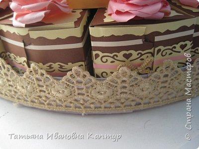 торт состоит из 28 кусочков. поэтому получилось два яруса. фото 5