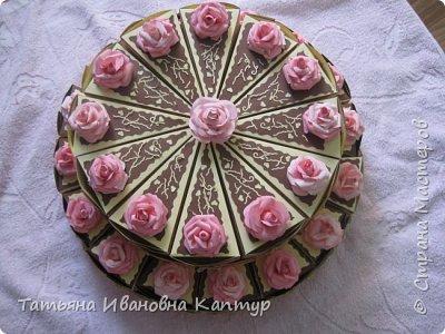 торт состоит из 28 кусочков. поэтому получилось два яруса. фото 2