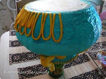 Вот такая весенняя радостная получилась ваза высотой 20см диаметром 30см фото 12