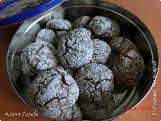 Печенье для любителей шоколада. Очень,очень шоколадное))) По вкусу и виду немного  напоминает  шоколадные прянички. Особенно привлекает простота его приготовления. фото 13