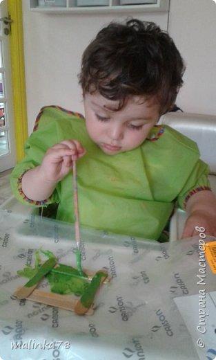 Вот такую рамку  для фотографий мы сделали  с малышами для их мам фото 3
