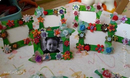 Вот такую рамку  для фотографий мы сделали  с малышами для их мам фото 9