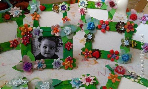 Вот такую рамку  для фотографий мы сделали  с малышами для их мам фото 1