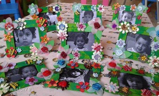 Вот такую рамку  для фотографий мы сделали  с малышами для их мам фото 10