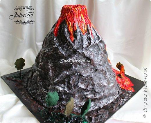 Как сделать вулкан из пластилина своими руками поэтапно 8