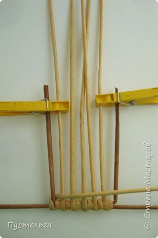 Кукольная жизнь Плетение Кресло-качалка Трубочки бумажные фото 2