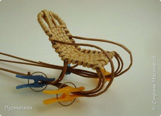 Кукольная жизнь Плетение Кресло-качалка Трубочки бумажные фото 7