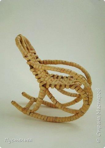 Кукольная жизнь Плетение Кресло-качалка Трубочки бумажные фото 9