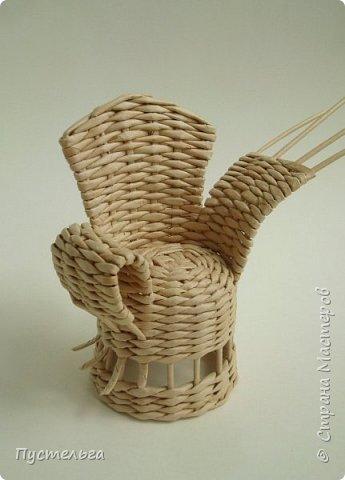 Кукольная жизнь Плетение Кресло Трубочки бумажные фото 10