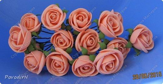15 шпилек с розочками из фоамирана. фото 4