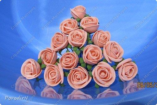 15 шпилек с розочками из фоамирана. фото 2