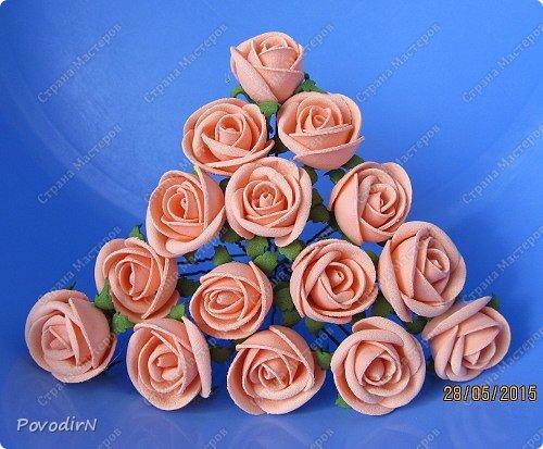15 шпилек с розочками из фоамирана. фото 1