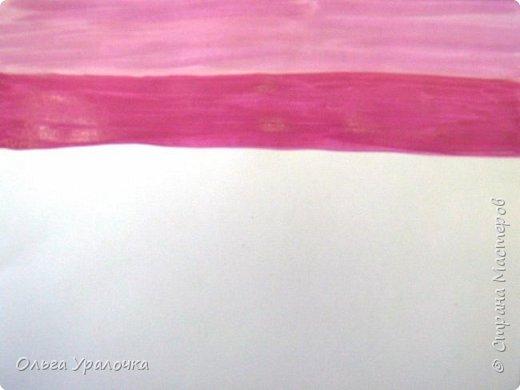 На этот МК меня вдохновила работа художника Рудакова Александра Владиславовича http://www.albatross-art.com/uploads/45654fae0ed5773d2996.jpg Композиция достаточно простая и может быть выполнении как людьми с опытом рисования, так и новичками . Работа выполняется поэтапно, без предварительного рисунка. Для выполнения работы нам понадобятся  гуашь, ватман формата А-3. , нейлоновые кисти под номерами 2 , 3 ,5.  фото 3