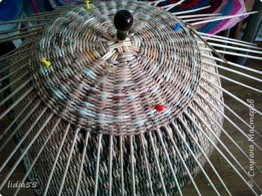 Мастер-класс Поделка изделие Плетение котошар и мк по подставке Трубочки бумажные фото 5