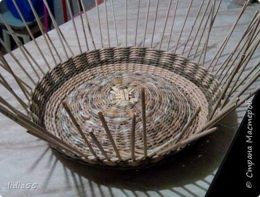 Мастер-класс Поделка изделие Плетение котошар и мк по подставке Трубочки бумажные фото 8