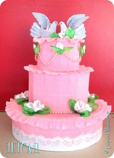У коллеги скоро свадьба - к торжеству готовимся вместе;) Вот такая чудесная казна в виде трёх ярусного тортика получилась.