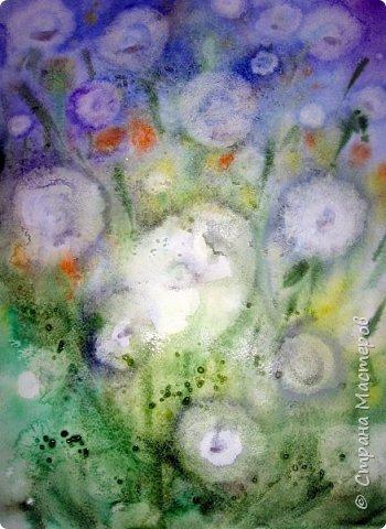 Картина панно рисунок Мастер-класс Рисование и живопись Одуванчики акварелью и не только Ч 2 Акварель Бумага фото 12