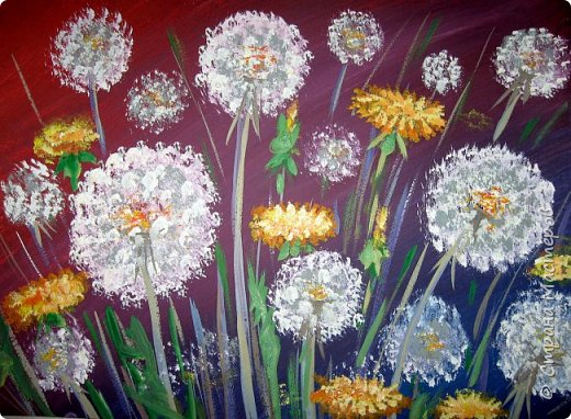 Картина панно рисунок Мастер-класс Рисование и живопись Одуванчики гуашью Ч 1 Бумага Гуашь фото 23