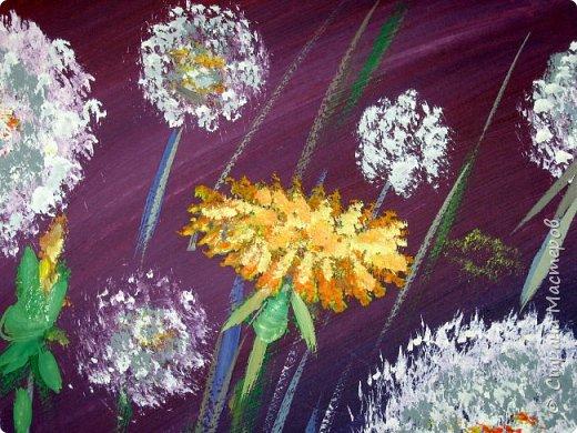 Картина панно рисунок Мастер-класс Рисование и живопись Одуванчики гуашью Ч 1 Бумага Гуашь фото 24