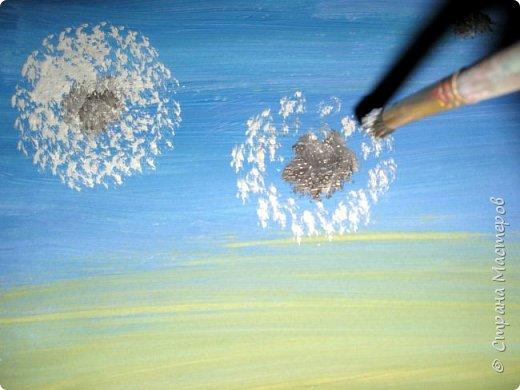 Картина панно рисунок Мастер-класс Рисование и живопись Одуванчики гуашью Ч 1 Бумага Гуашь фото 4