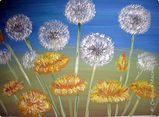Картина панно рисунок Мастер-класс Рисование и живопись Одуванчики гуашью Ч 1 Бумага Гуашь фото 19