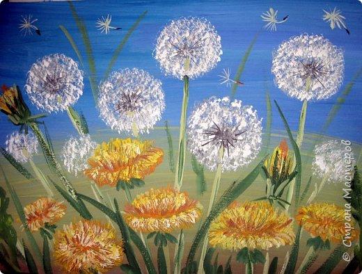 Картина панно рисунок Мастер-класс Рисование и живопись Одуванчики гуашью Ч 1 Бумага Гуашь фото 22