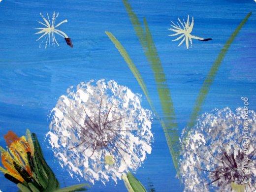 Картина панно рисунок Мастер-класс Рисование и живопись Одуванчики гуашью Ч 1 Бумага Гуашь фото 21