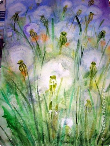 Картина панно рисунок Мастер-класс Рисование и живопись Одуванчики акварелью и не только Ч 2 Акварель Бумага фото 14