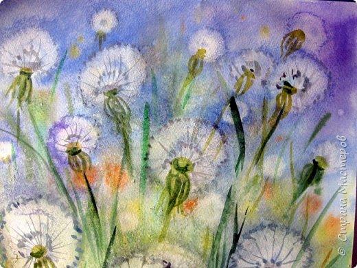 Картина панно рисунок Мастер-класс Рисование и живопись Одуванчики акварелью и не только Ч 2 Акварель Бумага фото 17