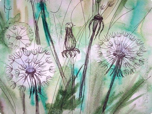 Картина панно рисунок Мастер-класс Рисование и живопись Одуванчики акварелью и не только Ч 2 Акварель Бумага фото 29