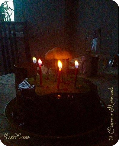Торт ко дню рождения сыночка. Экспериментирую. Захотелось попробовать сделать торт с летящими элементами. Выбрала самую простую для себя композицию. Вот что получилось :) фото 2