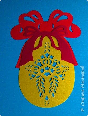 Новый год - самый яркий из всех праздников в году. А вот новогодние вытынанки делают из бумаги одного цвета, обычно белого, иногда добавляя фон другого цвета. Но мне захотелось сделать их яркими, новогодними. За основу взял обычные вытынанки из интернета. Новогодние вытынанки. фото 35