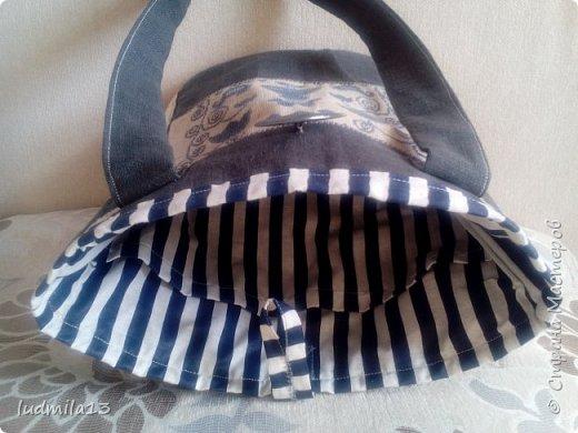 Здравствуйте! Еще одна летняя  сумка с вышивкой.  фото 2