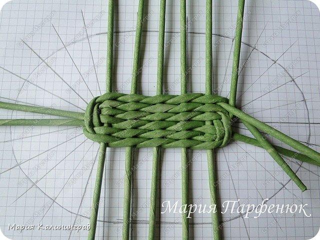 Плетение овального дна корзин