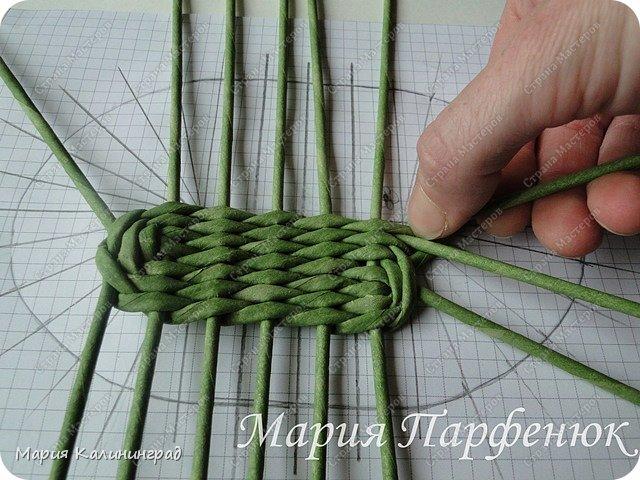 Мастер-класс Поделка изделие Плетение Овальное дно мастер класс Бумага газетная Трубочки бумажные фото 23