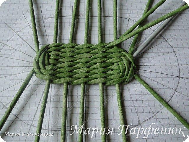 Мастер-класс Поделка изделие Плетение Овальное дно мастер класс Бумага газетная Трубочки бумажные фото 25